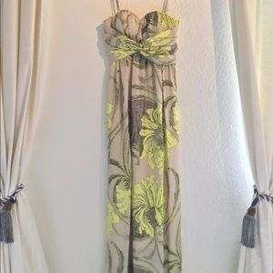 Long Flowy Jessica Simpson Maxi ADJUSTABLE Dress
